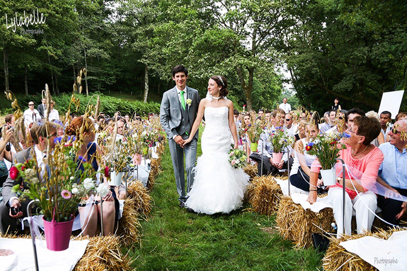Extrêmement Mariage: Joli mariage rustique & champêtre - NW22